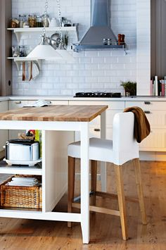 11 space-saving ideas for your kitchen. Features the 'Henriksdal' bar stool by @IKEA_Australia.
