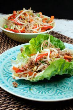 Low Carb China-Fingerfood mit Sprossen, Hackfleisch und Sojasoße - Gaumenfreundin.de Foodblog