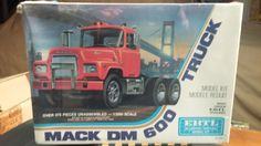 ERTL 1/25 MACK DM 600 SEMI TRUCK CAB UNOPEN OLD STOCK KIT FOUND IN STORAGE #ERTL