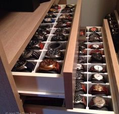 Wristwatch drawers