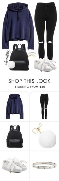 """""""60❤"""" by inlovewithtay on Polyvore featuring mode, Topshop, Lamoda, Michael Kors, Puma et Cartier"""