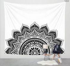 Moonlight Mandala Wall Decor Tapestry