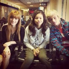 Bella Thorne, Zendaya Coleman, and Ross Lynch! Why Was he with them??? And Zendayas last name is Coleman OMG!!
