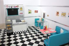 pippaloo for dolls: A 1950's DINER MASH UP