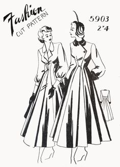 Fashion Cut 5903 (late 1940s) Australian