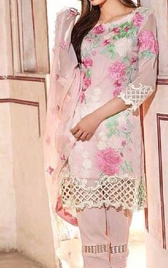 Baby Pink Chiffon Suit | Buy Charizma Eid Collection Pakistani Dresses and Clothing online in USA, UK