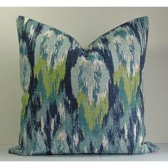 Decorative Ikat Pillow Cover-Designer Throw Pillow-Both... ($30) via Polyvore featuring home, home decor, throw pillows, decorative pillows, grey, home & living, home décor, ikat throw pillows, teal accent pillows and teal throw pillows