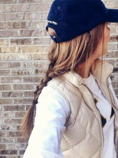 45 Trendy Ideas For Hat Hairstyles Baseball Braids Ball Caps Look Fashion, Fashion Beauty, Autumn Fashion, Fashion Tips, Preppy Style, Style Me, Look 2015, Hat Day, Hat Hairstyles