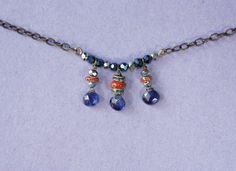 3 Kyanite Veriscite Necklace by GemStorm on Etsy, $40.00