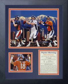 Denver Broncos Peyton Manning Framed Photo Collage