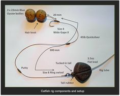 Here's a simple but very effective bottom bait rig setup for catfish fishing in lakes: easy to tie and highly effective! See how to make it at http://www.frenchcarpandcats.com/blog/blogstory.php?seq=105