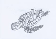 """Draft of: """"What if. through space flying, huge, city carrying turtles would exist?"""
