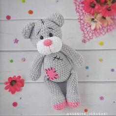Crochet Teddy Bear Pattern Free, Teddy Bear Patterns Free, Crochet Dragon Pattern, Crochet Animal Patterns, Free Pattern, Crochet Gratis, Crochet Geek, Free Crochet, Tatty Teddy