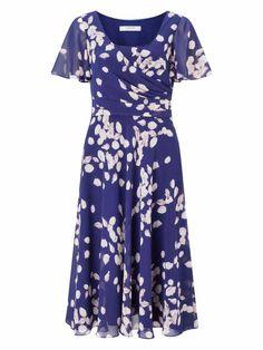 c11efae1d0bf Jacques Vert Blue Dresses Womens Petal Soft Drape Dress 647176-A11 Dresses  Uk, Blue