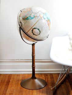 always dreamed of finding a cheap, vintage standing floor globe