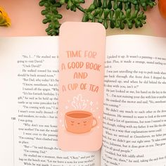 Time for a Good Book and a Cup of Tea Bookmark These lovely bookmarks are printed on quality 400gsm cardstock, with a smooth Matt lamination! Details: - 148mm x 52mm - Choice of square or rounded corners - Choice of with or without peach tassel - Double sided; One side with the illustration, the back features a laurelmaeart logo - Smooth Matt Laminated Bookmark - Printed on high quality 400gsm Cardstock All bookmarks are shipped in board backed envelopes and recyclable bag! Coffee Candle, Coffee Cups, Tea Cups, David Painting, Witch Photos, Bookmark Printing, Forty Birthday, Craft Stores, Bookmarks