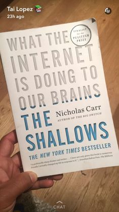 What the internet is doing to our brains Best Books To Read, Books To Buy, Good Books, Book Nerd, Book Club Books, Book Lists, Book Clubs, Book Suggestions, Book Recommendations