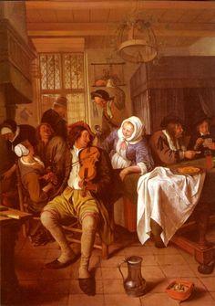 Jan Steen - Interior Of A Tavern