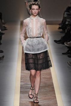VALENTINO Spring 2012 RTW .... Looks like our very own barong tagalog