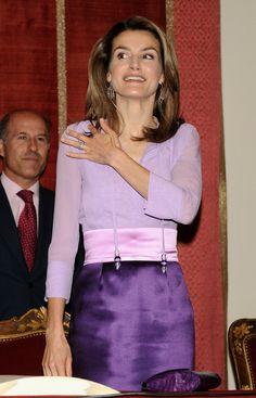 Princess Letizia - Prince Felipe & Princess Letizia Attend Caja Madrid Grants Ceremony