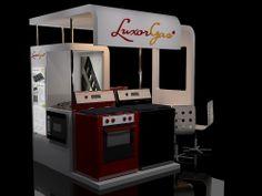 Góndola cocinas Luxor Gas en shopping Alto Rosario