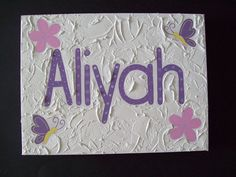 Handpainted Girls Name canvas' x Custom made to suit individuals decor Name Canvas, Girl Names, Suit, Hand Painted, Pop, Girls, Decor, Toddler Girls, Decoration