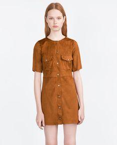 Pocket Dress. Suede.