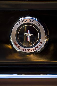 1965 Shelby Prototype Ford Mustang Emblem - Car Images by Jill Reger