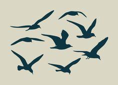 Flight of gulls ref 92 Wave Stencil, Bird Stencil, Stencil Vinyl, Custom Stencils, Stencil Painting, Henna Stencils, Adhesive Stencils, Adhesive Vinyl, World Map Stencil