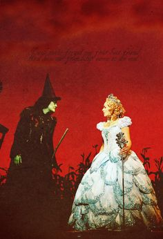 Wicked-Idina Menzel and Kristin Chenoweth This reminds me of my first friend, Tori. Broadway Wicked, Wicked Musical, Musical Theatre Broadway, Broadway Plays, Wicked Witch, The Witches Of Oz, Defying Gravity, Idina Menzel, Look At You