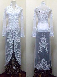 Modern kebaya wedding dress
