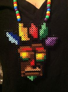 Crash Bandicoot Aku Aku Perler Necklace by PlurfectPerlers on Etsy