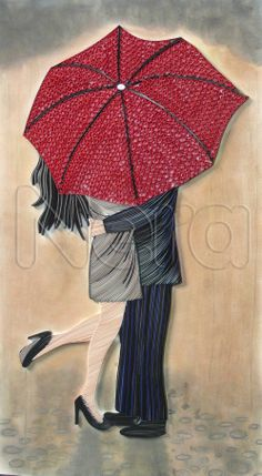 I quilled one of Loui Jover's art. The size is 41*70cm