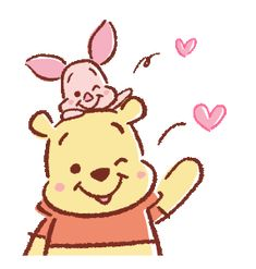 Winnie Pooh discovered by GLen =^● 。●^= on We Heart It Disney Babys, Disney Love, Disney Art, Disney Drawings, Cute Drawings, Anim Gif, Animated Gif, Winnie The Pooh Gif, Gif Mignon