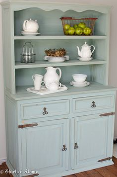 Duck egg blue. How can a picture of a cabinet make me so happy?