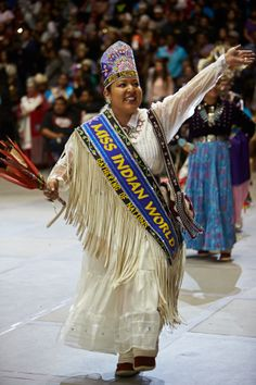 Miss Indian World. Gathering of Nations 2014 #Beautiful #NativeAmerican
