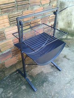 Bbq Grill, Grilling, Sunken Fire Pits, Grill Design, Welding Art, Charcoal Grill, Barrels, Metal Working, Outdoor Decor