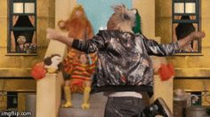 What you actually look like playing Just Dance. | Community Post: 19 Perfectly Relatable GIFs From The Marianas Trench Here's To The Zeros Music Video