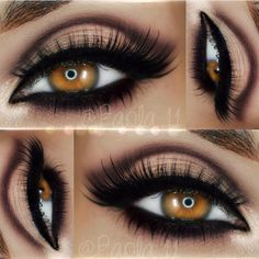 3 Gorgeous EOTD - Great work by paola.11 using elfcosmetics Studio Endless Eyes Pro Mini Eyeshadow Palette in 'Natural' motivescosmetics pressed eyeshadow in 'Vino' motivescosmetics 'Little Black Dress' gel liner amyjunelashes in 'Audrey