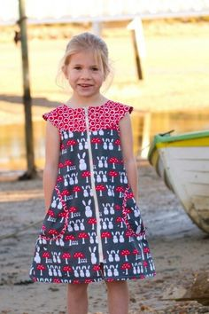 Zip-It dress pattern by Make It Perfect; pattern comes in 3 size options ---> Little - 0 (6 months) to 5 years, Big - 6 to 10 years, or Little & Big - 0 (6 months) to 10 years