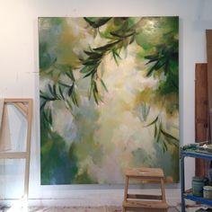 Studio Shot of 'Eyeleted Refuge' in progress Acrylic Art, Painting Inspiration, Diy Art, Home Art, Art Photography, Art Pieces, Large Canvas Art, Paintings, Ios App