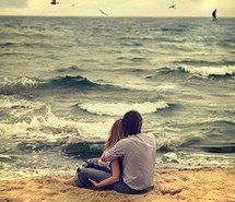 Inspiring picture beach, love, couple, cute, hug.