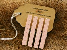 Clothespins Standard Size 3 Pink and Gold Set by MAKINGtheNESTofIT,