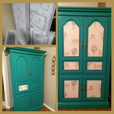 Armoire redo, used found wallpaper