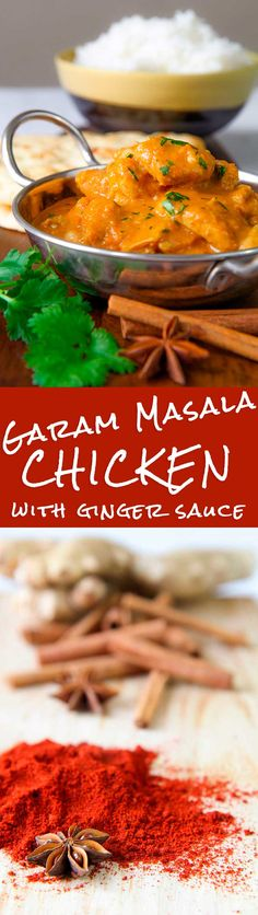 GARAM MASALA CHICKEN with fresh ginger and beer sauce - This Garam Masala chicken stew is one of my preferred Indian style recipes. To prepare this tasty dish I used traditional spices adding a personal touch: before stewing, the meat is braised into pale ale beer. This little exception to the traditional rules will give a special flavor to the meat: I'm sure you'll love it as I do! - Indian cuisine meal food dinner pepper spicy spices Asian Asia