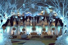 Elegant Wedding Decorations For Reception Winter Wonderland | visit www.lovelyweddingideas.com