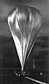 Inflation of zero-pressure balloon. (NASA)
