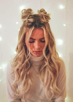 34 Space Buns You Can Easily Copy - How to Make Space Buns Tutorial - With Hairs., 34 Space Buns You Can Easily Copy - How to Make Space Buns Tutorial - With Hairstyle Space Buns Even if you are not a Star Wars fan, you sh. Cute Hairstyles For Teens, Easy Hairstyles For Long Hair, Teen Hairstyles, Pretty Hairstyles, Two Buns Hairstyle, Buns For Long Hair, Wedding Hairstyles, Thin Hair, Hairstyle Ideas