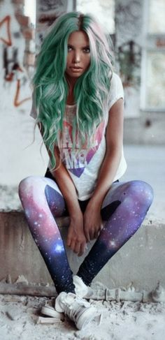 Blue milky way galaxy black nebula cosmic apparel pants leggings