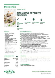 thermomix - Szpinakowe gryczotto z kurkami Make It Simple, Projects To Try, Food And Drink, Dreams, Cooking, Kitchen, Per Diem, Thermomix, Cuisine